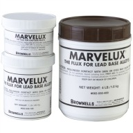 BROWNELLS MARVELUX CAST FLUX 1/2 POUND JAR 12/CS