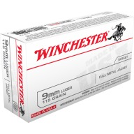 WINCHESTER AMMO 9MM LUGER USA 115gr FMJ 50/bx 10/cs