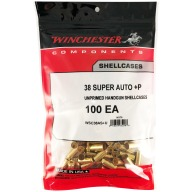 Winchester Brass 38 Super +P Unprimed Bag of 100