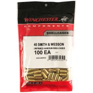 WINCHESTER BRASS 40 S&W UNPRIMED 100/bag 20/cs