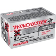 WINCHESTER AMMO 22 MAG SUPER-X 40gr FMJ 50/bx 40/cs