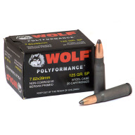 WOLF AMMO 7.62x39 125g SP POLYFORMANCE 20/bx 50/cs