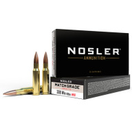 NOSLER AMMO 308 WINCHESTER 168gr COMPETITION 20/bx 10/cs
