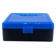BERRY 38/357 HINGED-TOP BOX 100-RND BLUE/BLK 50/c