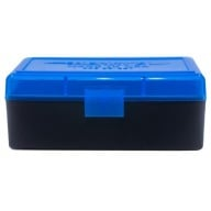 BERRY 38/357 HINGED-TOP BOX 50-RND BLUE/BLK 50/cs