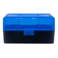 BERRY 222/223 HINGED-TOP BOX 50 RND-BLUE/BLK 50/cs