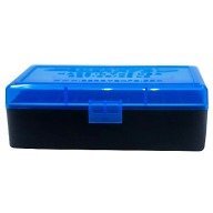 Berry 44/45LC Hinged-Top Box 50-round Blue/Black 50 per case
