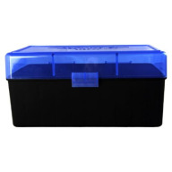 "BERRY 3.25"" OAL HINGE-TOP BOX 50-ROUND BLUE 30/cs"