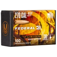 Federal 270 (.277) Fusion 130gr BT Bullet Box of 100