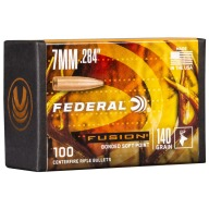 Federal 7MM (.284) Fusion 140gr BT Bullet Box of 100