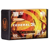 Federal 7MM (.284) Fusion 175gr BT Bullet Box of 100