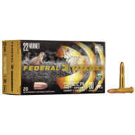 FEDERAL AMMO 22 HORNET 30gr TNT LEAD-FREE 50/bx 10/cs