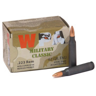 WOLF AMMO 223 REMINGTON 62g FMJ MILITARY-CLASSIC 20b 25c