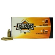 ARMSCOR AMMO 9MM 124gr FMJ 50/bx 20/cs