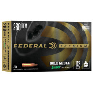 FEDERAL AMMO 260 REMINGTON 142g SRA HPBT (G/M) 20/bx 10/cs