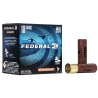 "FEDERAL AMMO 10ga 3.5"" STEEL 1450fps 1.5oz #2 25b 10c"