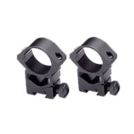 "BSA RINGS 1"" HIGH SEE- THRU 22/AIRGUN MATTE"