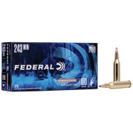FEDERAL AMMO 243 WINCHESTER 100gr SP (P/S) 20/bx 10/cs
