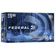 FEDERAL AMMO 270 WINCHESTER 150gr SP -RN (P/S) 20/bx 10/cs