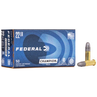 FEDERAL AMMO 22LR 40gr SOLID CHAMPION 1240fps 50b 100c