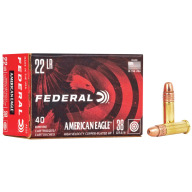 FEDERAL AMMO 22LR 38gr CP-HP AM.-EAGLE 40/bx 100/cs
