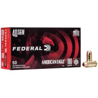 FEDERAL AMMO 40 S&W 180gr FMJ AM.-EAGLE 50/bx 20/cs
