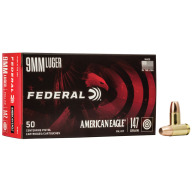 FEDERAL AMMO 9MM 147gr FMJ-FP AM.-EAGLE 50/bx 20/cs