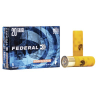 "FEDERAL SLUG 20ga 2.75"" MAXd 3/4oz HP-RIFLED 5/b 50/c"