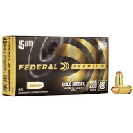 FEDERAL AMMO 45 ACP 230gr FMJ (G/M) MATCH 50/bx 20/cs