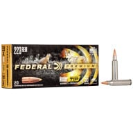 FEDERAL AMMO 223 REMINGTON 55gr NOSLER BT (V/S) 20/bx 10/cs