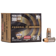 FEDERAL AMMO 9MM 124gr JHP HYDRA-SHOK 20/bx 25/cs
