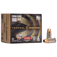 FEDERAL AMMO 9MM 147gr JHP HYDRA-SHOK 20/bx 25/cs