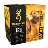 "BROWNING AMMO 12ga 3"" 1.25oz 1450fps #4 25/bx 10/cs"