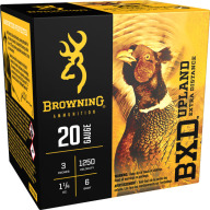 "BROWNING AMMO 20ga 3"" 1.25oz 1250fps #6 25/bx 10/cs"