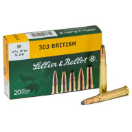 SELLIER & BELLOT AMMO 303 BRITISH 180gr SP 20/bx 20/cs