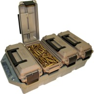 MTM 4-CAN AMMO CRATE 30c w/4 AC30T's DKEarth/FGRN
