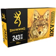 BROWNING AMMO 243 WINCHESTER 65gr BXV 20/bx 10/cs