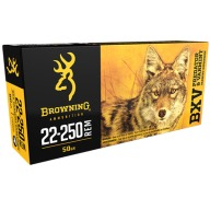 BROWNING AMMO 22-250 REMINGTON 50gr BXV 20/bx 10/cs