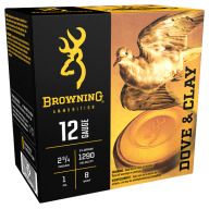 "BROWNING AMMO 12ga 2.75"" 1oz 1290fps #8 25/bx 10/cs"