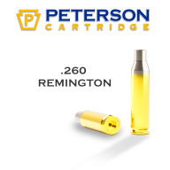 Peterson Brass 260 Remington Unprimed Box of 50