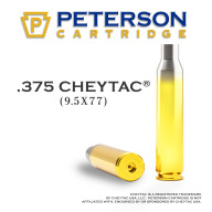 Peterson Brass 375 Cheytac Unprimed Box of 50