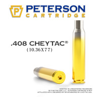 Peterson Brass 408 Cheytac Unprimed Box of 50