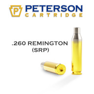 Peterson Brass 260 Remington Small Primer Unprimed Box of 50