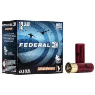 "FEDERAL AMMO 12ga 2-3/4"" 1-1/8oz #4 STEEL 25b 10c"