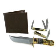 Uncle Henry Knife Gift Tin - 3 Knives, 1 Wallet