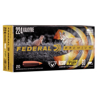 FEDERAL AMMO 224 VALKYRIE 60g NOSLER-BT PART. 20/b 10/c