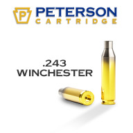 Peterson Brass 243 Winchester Unprimed Box of 50