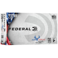 FEDERAL AMMO 270 WINCHESTER 130gr SP NON-TYPICAL 20/bx 10/cs