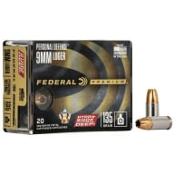 FEDERAL AMMO 9MM 135gr JHP HYDRA-SHOK 20/bx 10/cs