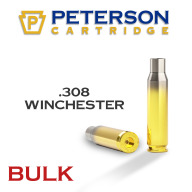 Peterson Brass 308 Winchester Match Unprimed Bulk Box of 500